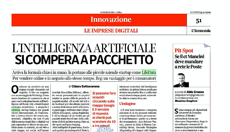 corriere intelligenza artificiale